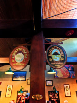 Beer signs in Deschutes Brewing Brewpub downtown Bend Oregon 1