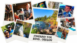 Perfect Bend itinerary for a week in Central Oregon. Hiking, biking, breweries and staying at LOGE Camps Entrada is ideal for a travel to Bend, Oregon. 2traveldads.com