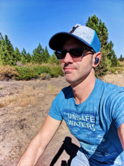 Chris Taylor biking from LOGE Camps Entrada Bend Oregon 1