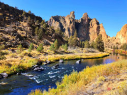 Christian Brothers formation above Crooked River Trail Smith Rock State Park Terrabonne Oregon 3