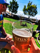 Craft Brewery Pint at Crux Brewing Bend Oregon 3