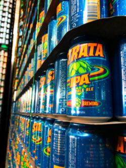 IPA Beer cans at Worthy Brewing Bend Oregon 2
