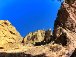 Looking up at Misery Ridge Trail Smith Rock State Park Terrabonne Oregon 1