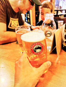 Pint at Deschutes Brewing Brewpud downtown Bend Oregon 1