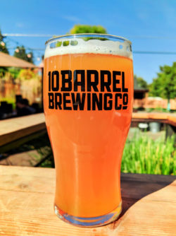 Pint on Patio at 10 Barrel Brewing Bend 1