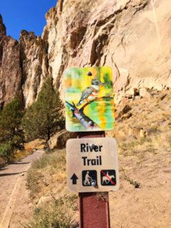 River Trail sign Smith Rock State Park Terrabonne Oregon 2