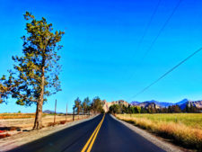 Road into Smith Rock State Park Terrabonne Oregon 2