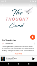 Thought Card travel Podcast