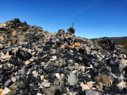 Taylor Family hiking Big Obsidian Flow Trail Newberry Caldera with Wanderlust Tours Bend Oregon 1