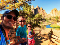 Taylor Family hiking Chute Trail Smith Rock State Park Terrabonne Oregon 1