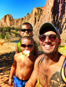 Taylor Family hiking at Smith Rock State Park Terrabonne Oregon 1