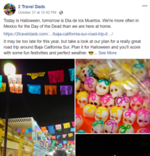 2TravelDads Facebook Page example