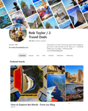 2TravelDads Pinterest page example