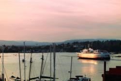 Blackball Ferry MV Coho leaving Inner Harbor Victoria BC 1