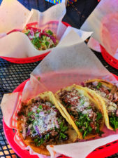 Blueberry Tritip tacos at Westside Taco Truck at Kobold Brewing Redmond Oregon 1