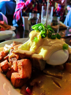 Breakfast Poutine Benedict at the Ruby Hotel Zed Victoria BC 1