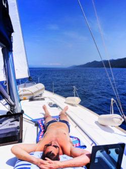 Chris Taylor relaxing onboard Pride Sailing Holidays Mljet Croatia 1