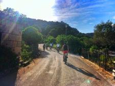 Chris Taylor riding bikes Mljet National Park Polace Pride Sailing Holidays Isle of Mljet Croatia 1