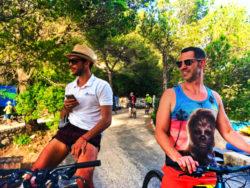 Chris Taylor riding bikes Miljet National Park Polace Pride Sailing Holidays Isle of Miljet Croatia 2