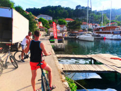 Chris Taylor riding bikes to Miljet National Park Polace Pride Sailing Holidays Isle of Miljet Croatia 1