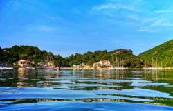 Chris Taylor swimming in Okuklje on Isle of Mljet Croatia 1