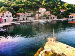 Chris Taylor swimming in Okuklje on Isle of Mljet Croatia 2