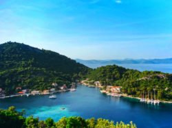 Cove port from above in Okuklje on Isle of Mljet Croatia 2