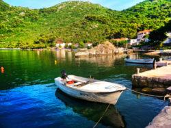 Cove port in Okuklje on Isle of Mljet Croatia 3