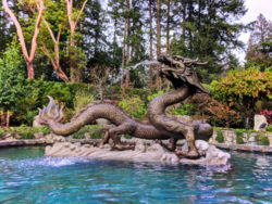 Dragon fountain at Butchart Gardens Victoria BC 1