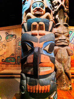 First Nationals totem poles at Royal BC Museum Victoria BC 2