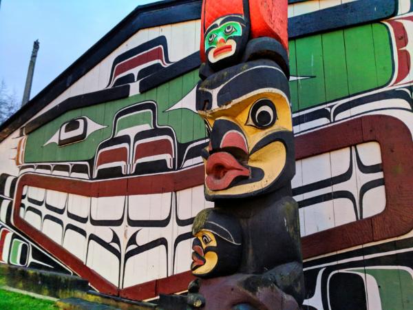 First Nations totem poles at Thunderbird Park Royal BC Museum Victoria BC 5