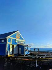 Fish market at waterfront Marina Sidney BC 1