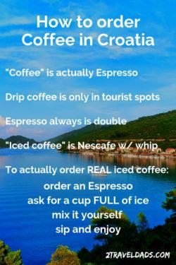 How to order coffee in Croatia pin