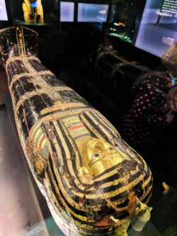 Mummy Sarcophagus in Egyptology exhibits at Royal BC Museum Victoria BC 2