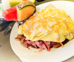 Pulled Pork Breakfast Bowl at Sassys Restaurant Victoria BC 2