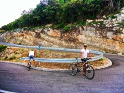 Chris Taylor riding bikes Mljet National Park Polace Pride Sailing Holidays Isle of Mljet Croatia 2