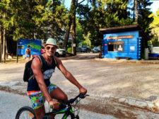 Rob Taylor riding bikes Mljet National Park Polace Pride Sailing Holidays Isle of Mljet Croatia 2