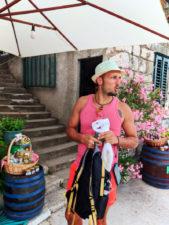 Rob Taylor at Grappa tasting in Okuklje on Isle of Mljet Croatia 2