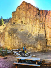 Rock Climbers at Rope De Dope Rock Smith Rock State Park Terrabonne Oregon 1
