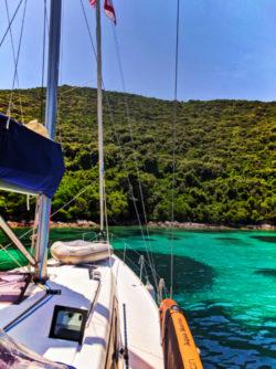 Sailing at Bay of Polace Pride Sailing Holidays Isle of Mljet Croatia 3