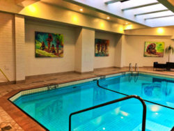 Swimming pool at Inn at Laurel Point Victoria BC 2