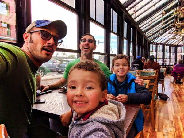 Taylor Family at Swan BrewPub on Pandora St Victoria BC 1
