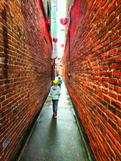 Taylor Family in Fantan Alley Chinatown Victoria BC 1