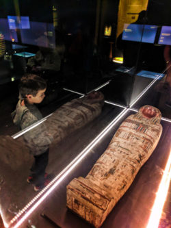 Taylor Family with Egyptology exhibits at Royal BC Museum Victoria BC 2