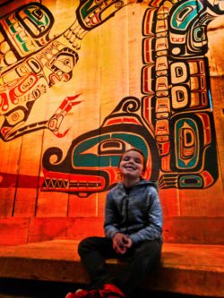 Taylor family First Nationals totem poles at Royal BC Museum Victoria BC 3