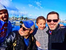 Taylor family at waterfront Marina Sidney BC 2
