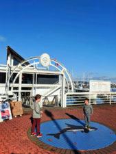 Taylor family at waterfront Marina Sidney BC 3