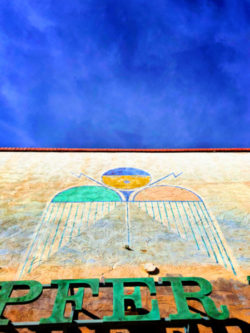 Blue Sky and Street Art Downtown Gallup New Mexico 1