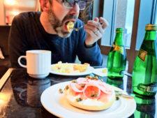 Chris Taylor at breakfast Hyatt lounge Seattle Grand Hyatt 1