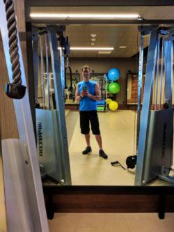 Chris Taylor in gym at Hyatt Regency Lake Washington 1